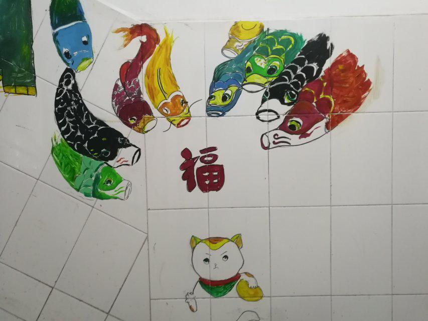 校园里的动物画